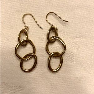 Chloe + Isabel Organic Open Circle Drop Earrings